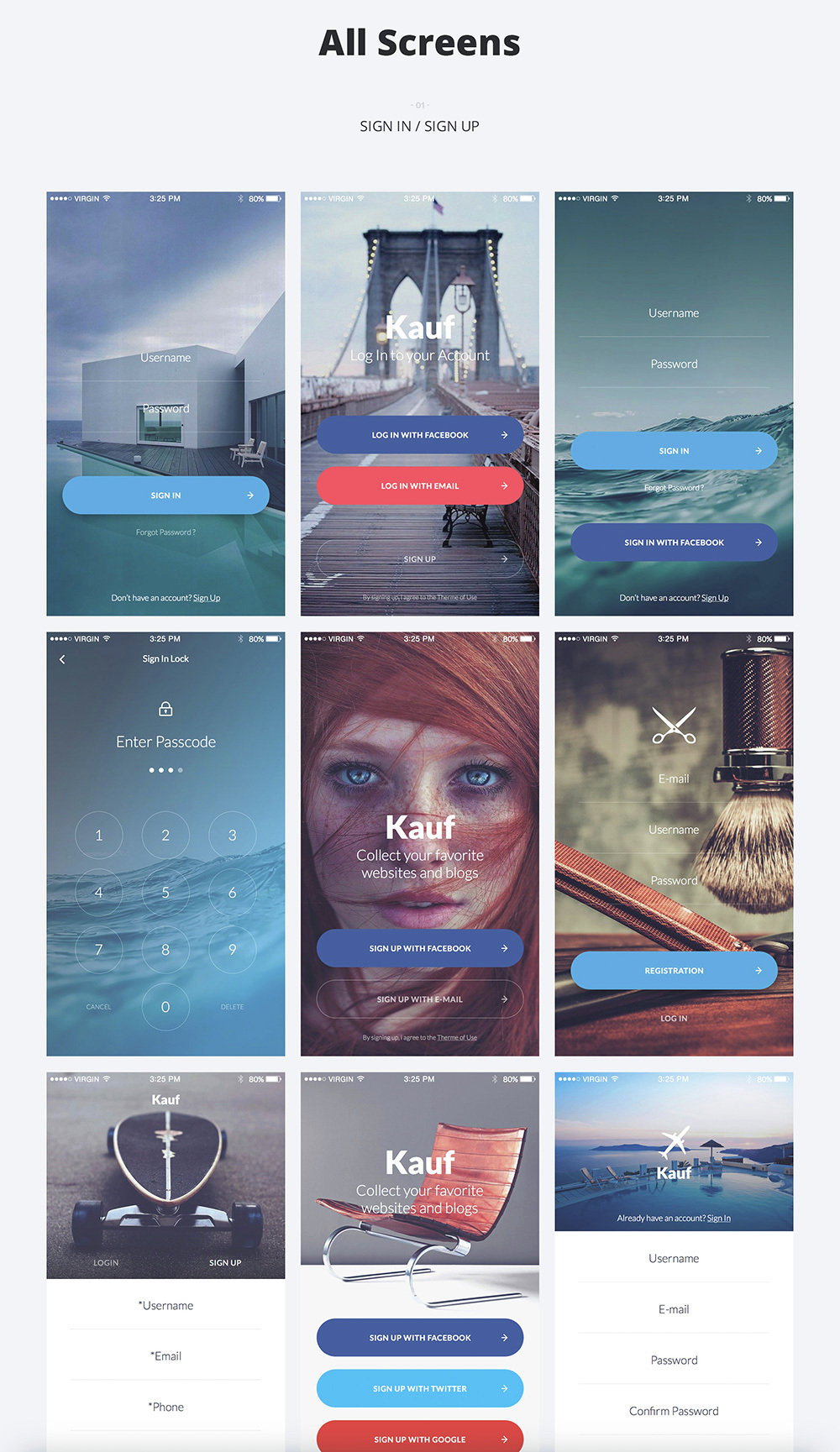 Kauf iOS UI Kit - 67+ Template for Sketch - 3