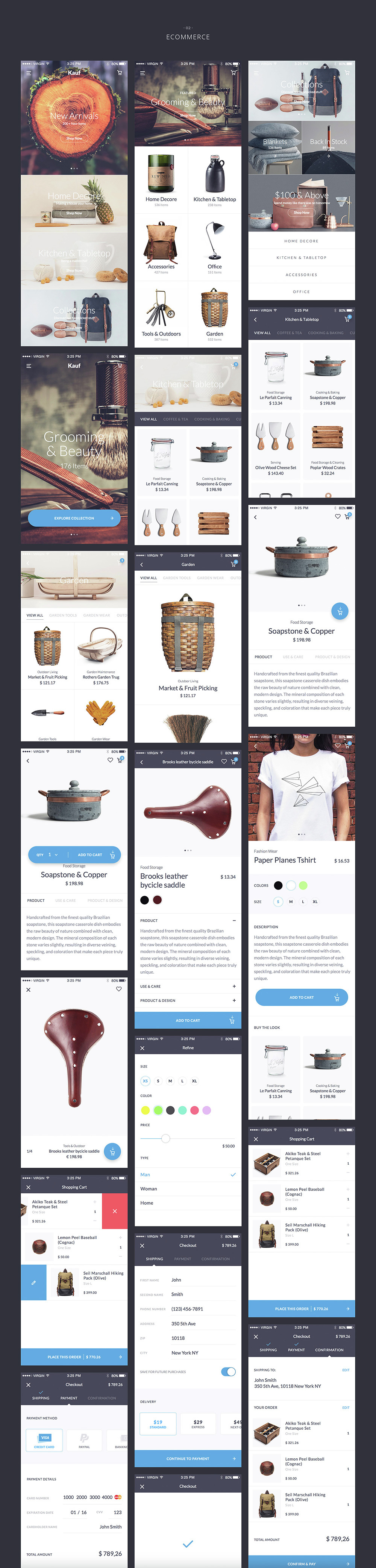 Kauf iOS UI Kit - 67+ Template for Sketch - 4