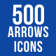 500 Arrows Icons Bundle