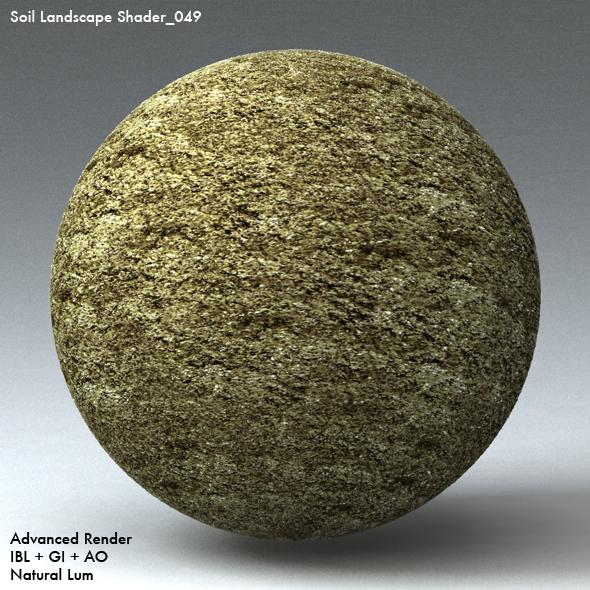 Soil Landscape Shader_049 - 3DOcean Item for Sale