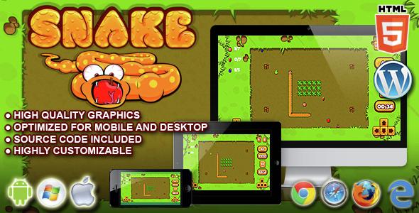 Download Snake - HTML5 Game nulled download