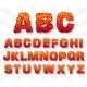 Fire Set Font Alphabet