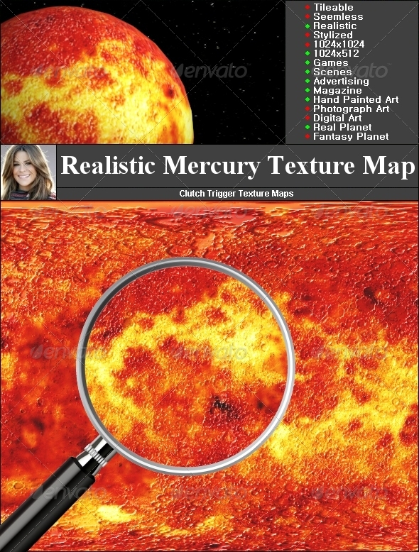 Mercury Texture Map - 3DOcean Item for Sale