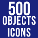 500 Objects Icons Bundle