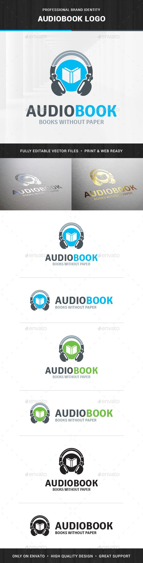 Audio Book Logo Template