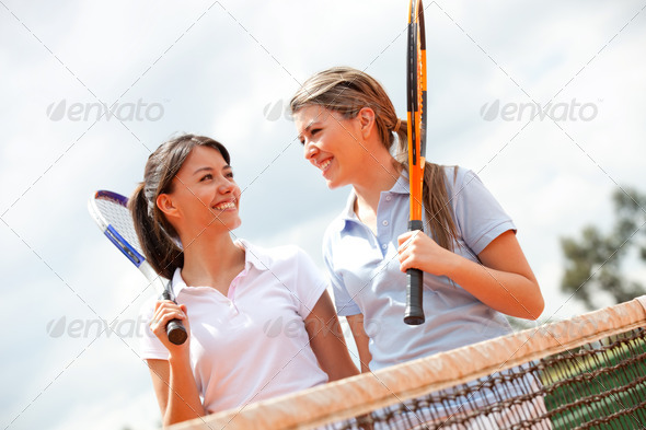 Female tennis players - Stock Photo - Images