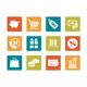 Icon set - vibrant square - Sale