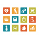 Icon set - vibrant square - Fitness