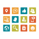Icon set - vibrant square - Social Media