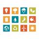 Icon set - vibrant square - Environment