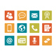 Icon set - vibrant square - Communication