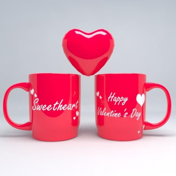 Valentine Mug - 3DOcean Item for Sale