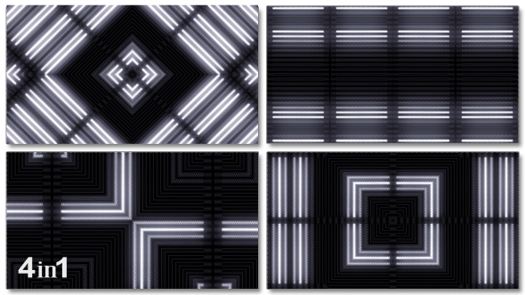 VideoHive White Light Flashing Abstract 4-Pack 14730534