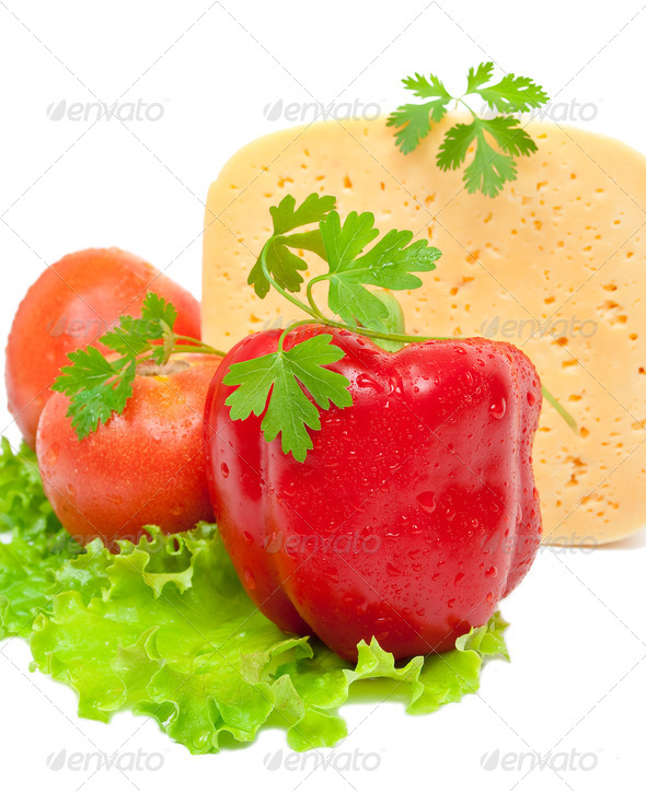Vegetables and cheese - Stock Photo - Images