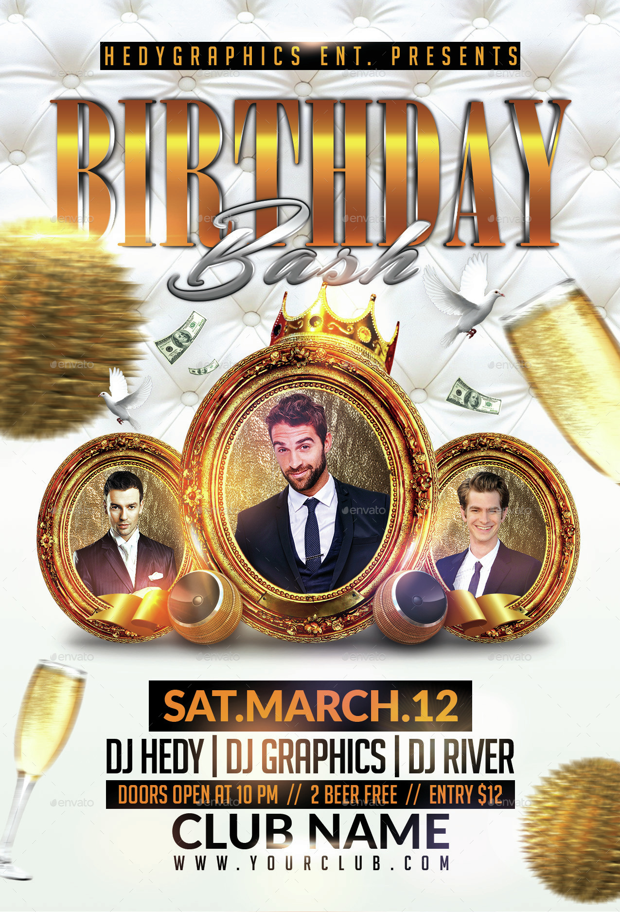 Birthday Bash Flyer Template by HedyGraphics – Birthday Flyer Template