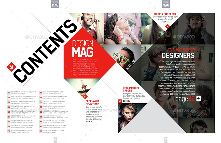 free indesign magazine templates - magazine template indesign 40 page layout v7 by