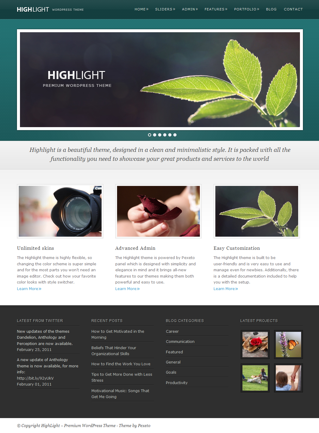 Highlight - Powerful Premium WordPress Theme