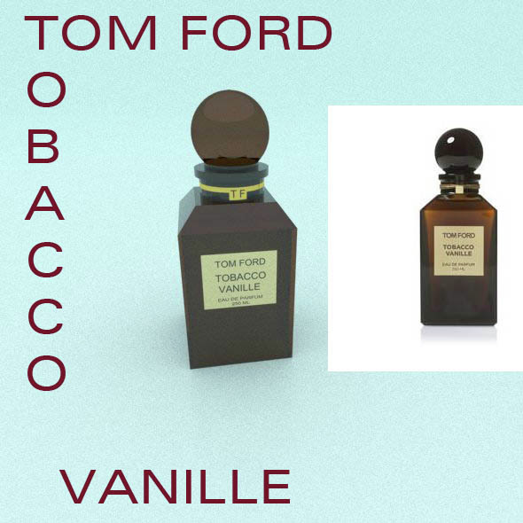 TOM FORD's glass perfume brown bottle - 3DOcean Item for Sale