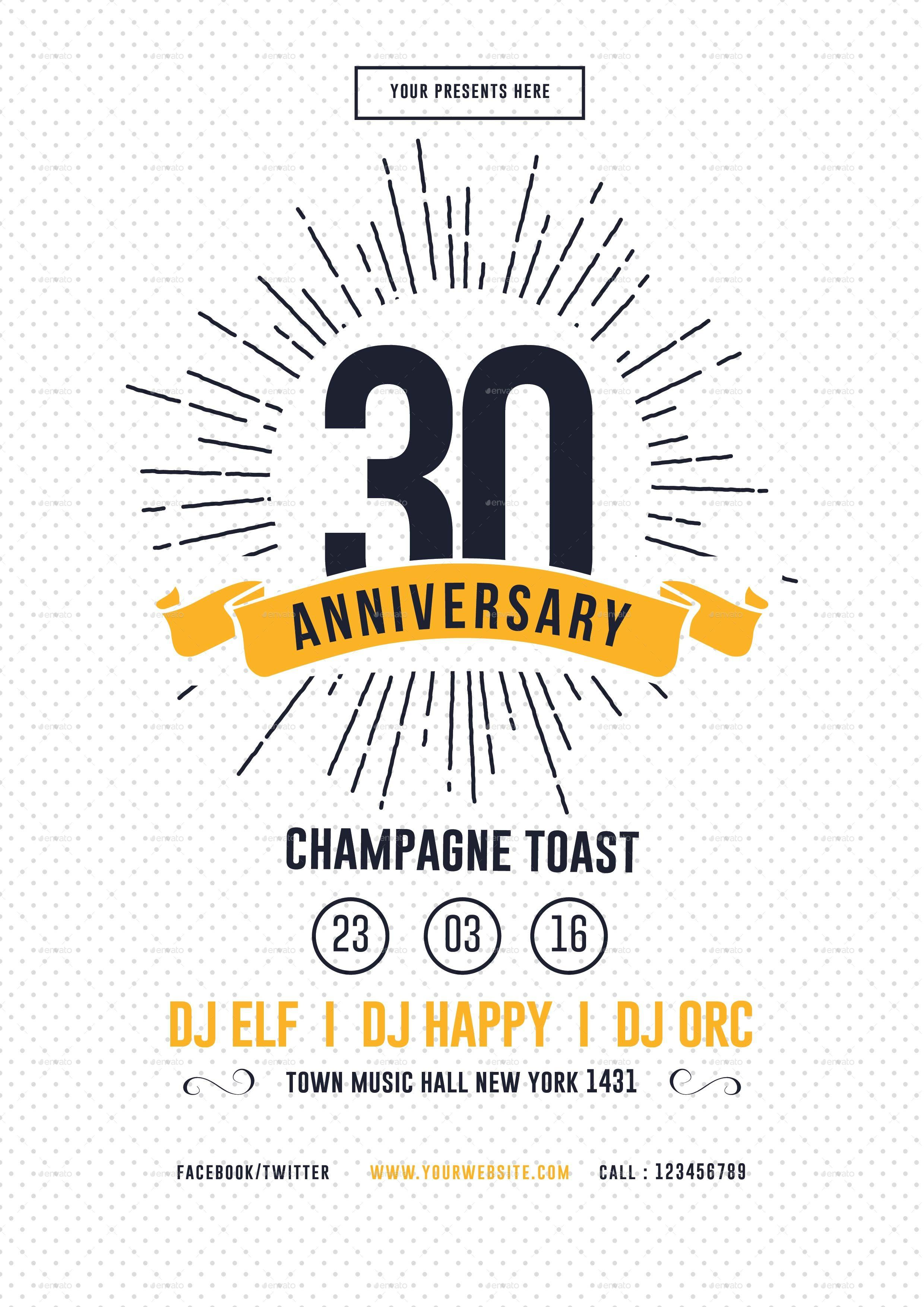 Vintage Anniversary Flyer by lilynthesweetpea – Anniversary Flyer