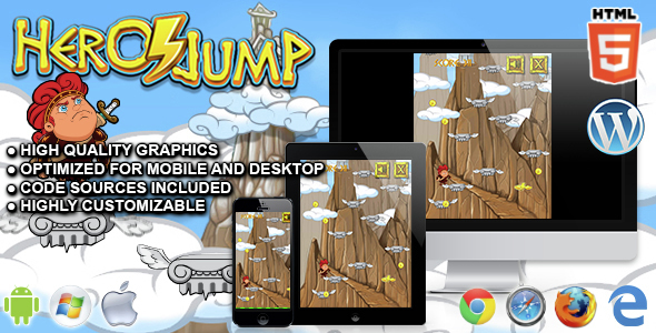 Download Hero Jump - HTML5 Arcade Game nulled download