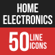 Home Electronics Filled Line Icons