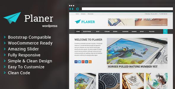 Planer - Responsive WordPress Magazine Theme