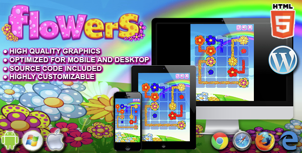 Download Flowers - HTML5 Puzzle Game  nulled download