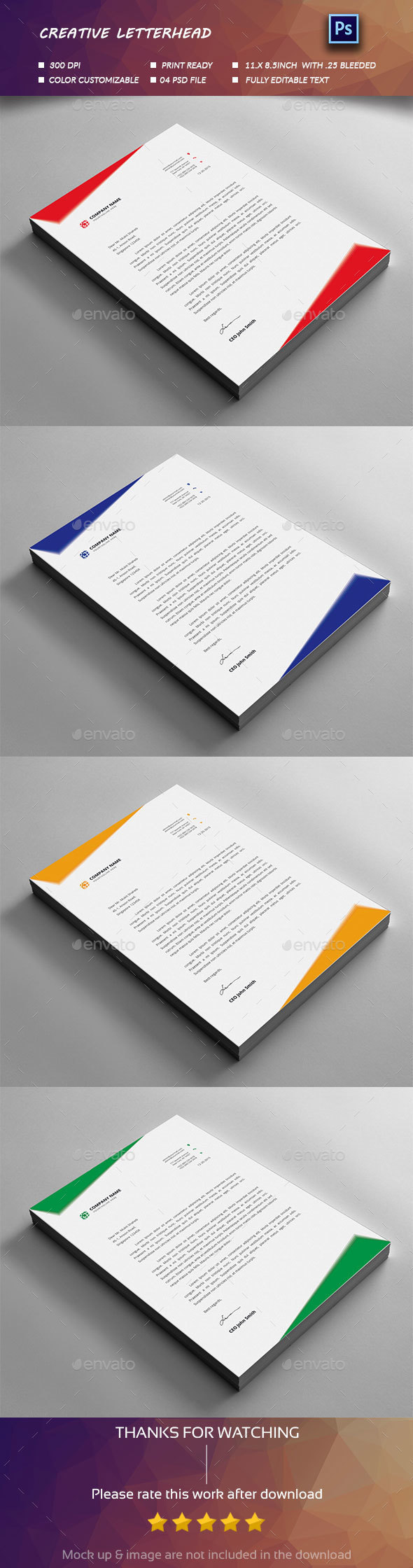Letterhead design design templates from graphicriver spiritdancerdesigns Choice Image