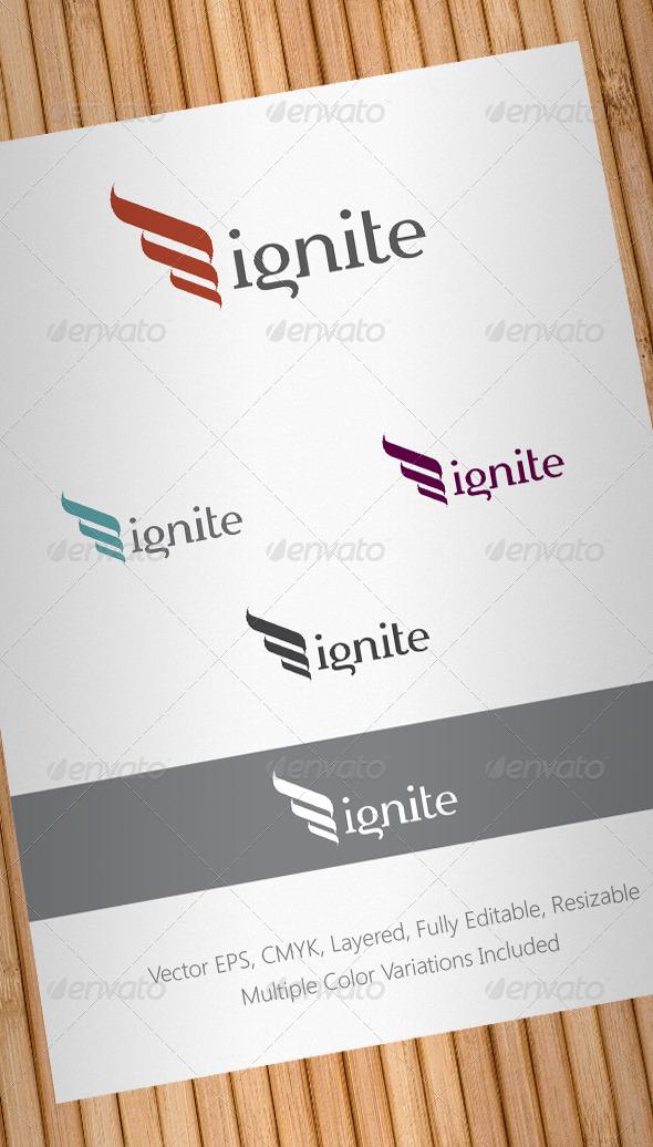 ignite logo template graphicriver. Black Bedroom Furniture Sets. Home Design Ideas