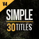 30 Simple Titles