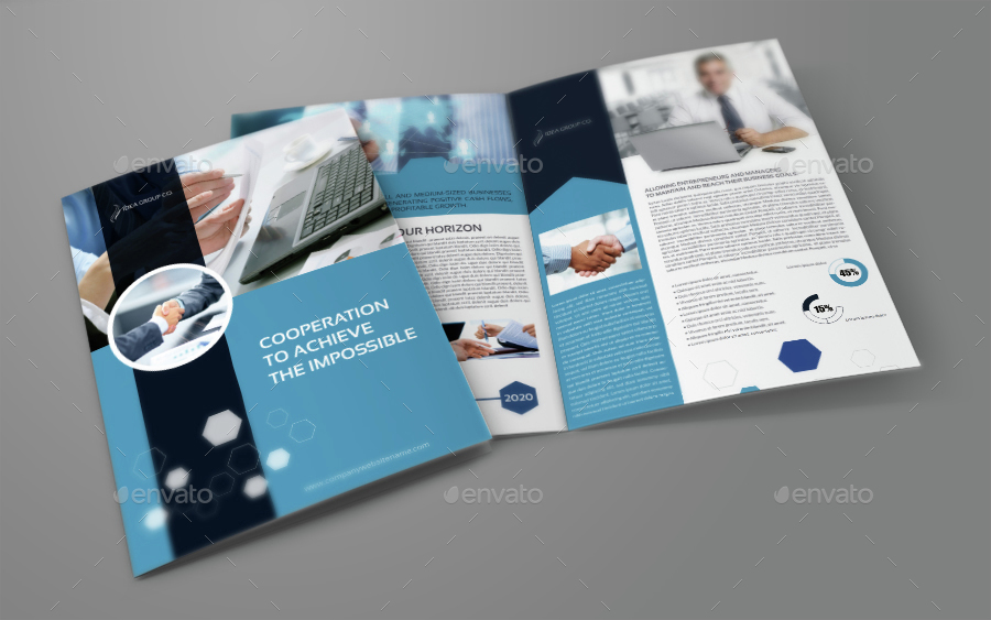 Company profile brochure bi fold template by for Company profile brochure template