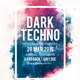 Dark Techno party flyer template