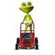 Frog with a frontal mower