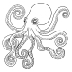 Hand Drawn Tribal Octopus