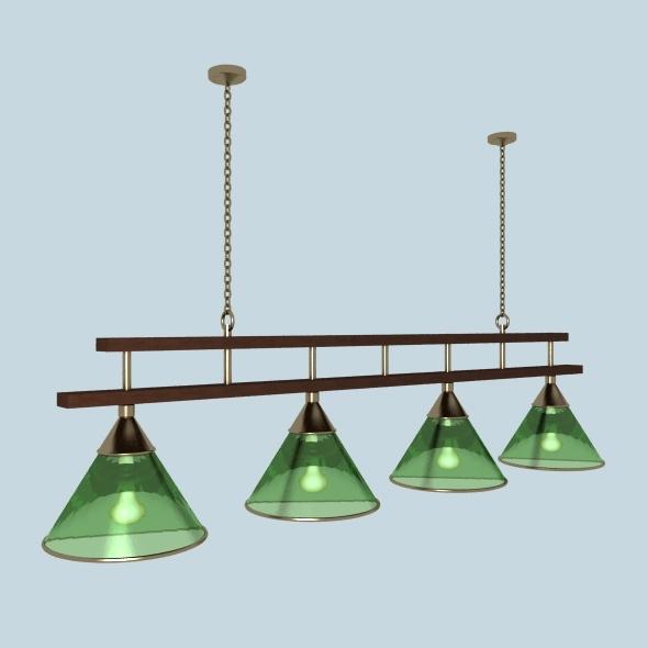 Billiard lamp - 3DOcean Item for Sale