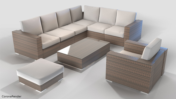 Rattan furniture free download for 3d max for Outdoor furniture 3d max
