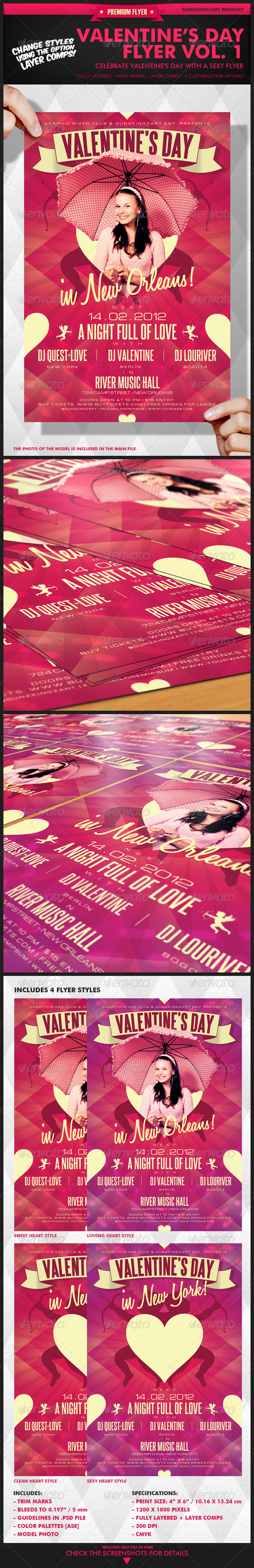 Valentine's Day Flyer Vol. 1 - Clubs & Parties Events