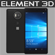 Element 3D Microsoft Lumia 950 Xl Black