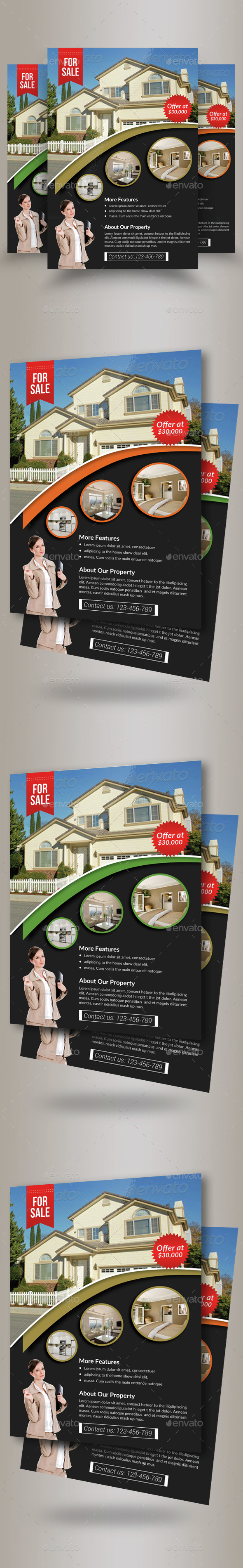 Real Estate Agency PSD Flyer Template