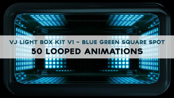 Vj Light Box Kit V1 - Circular Patern Square Spot Pack - 1
