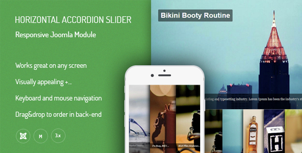 Horizontal Accordion Slider - Responsive Joomla Extensions