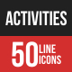 Activities Filled Line Icons