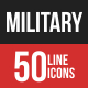 Military Filled Line Icons