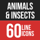 Animals & Insects Filled Line Icons