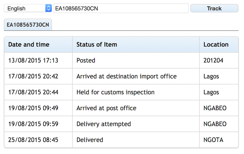 Ems delivery status php script by ihomp codecanyon - Philippine post office track and trace ...