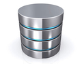 Database storage concept, cloud computing.