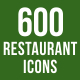 500 Hotel & Restaurant Icons Bundle