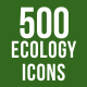 500 Ecology Icons Bundle