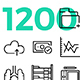 1200 Line Icons Collection