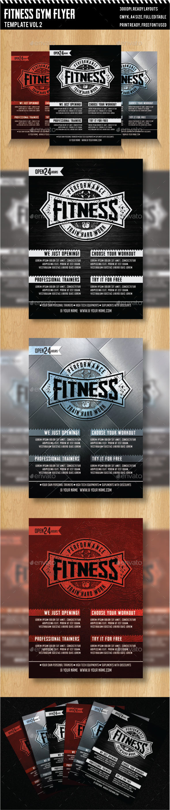 Fitness - Gym Flyer Templates